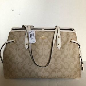 NWT Coach Logo Tote with Golden Hardware